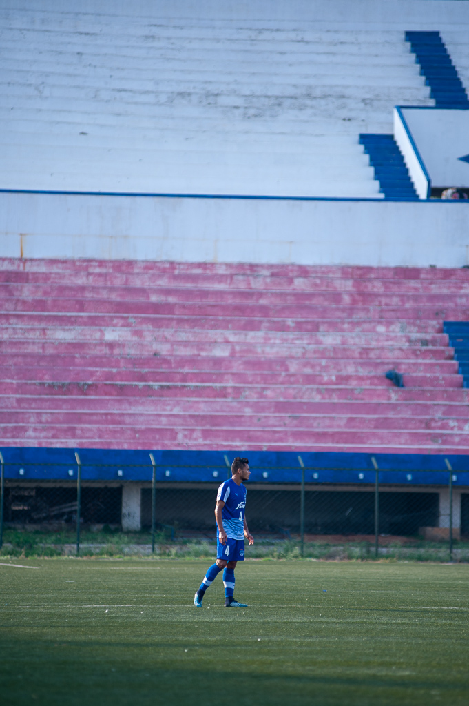 Long shot of BFC's senior team player, Nishu Kumar featuring for their B team.